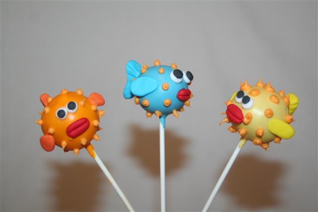 Fish Themed Cake Pops