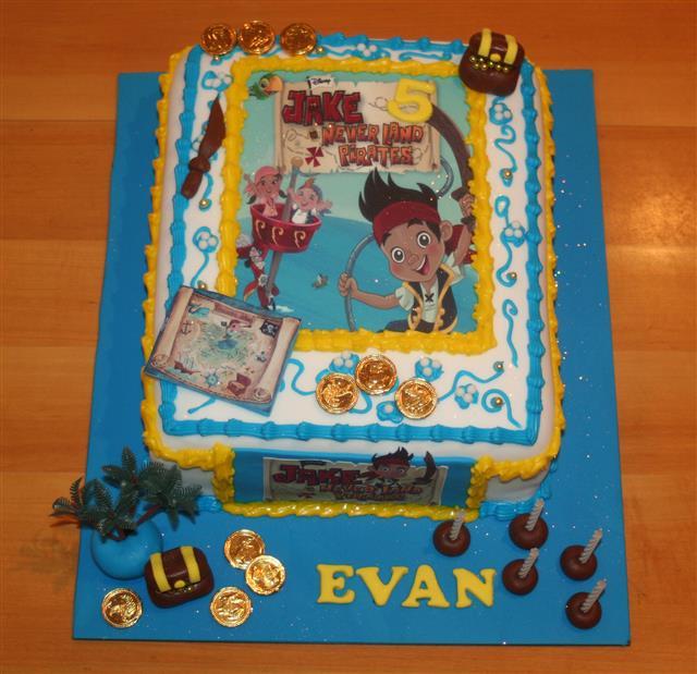 Jack N The Neverland Pirates Birthday Cake